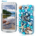 Роскошные 3D Bling Crystal Rhinestone Алмазный Прозрачный Жесткого Пластика Задняя Крышка Case Для Samsung Galaxy Note 2 II N7100 7100