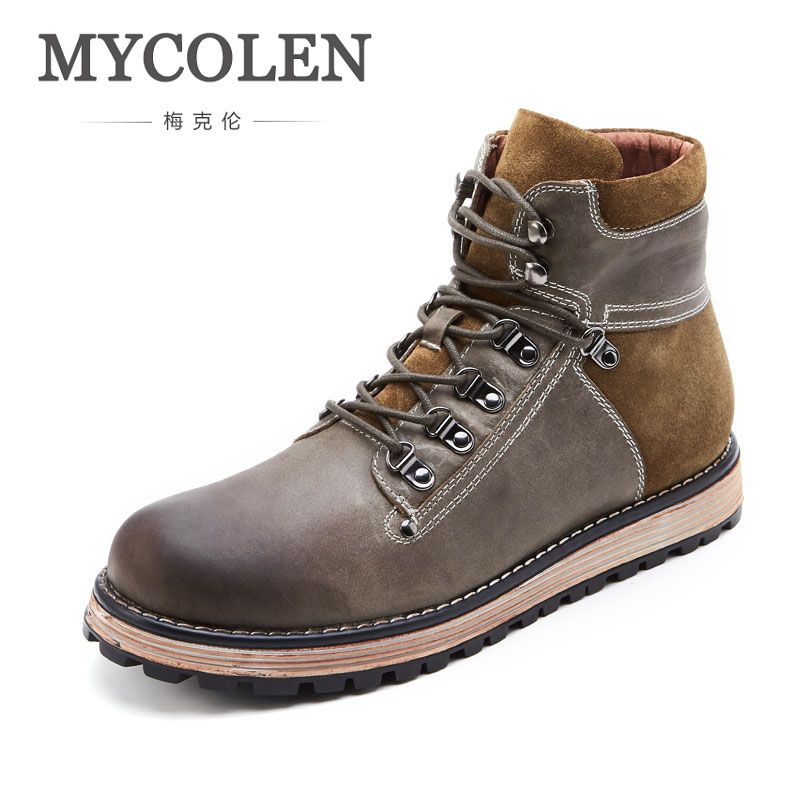 MYCOLEN Hot Men Shoes Fashion Warm Comfortable Winter Men Boots Autumn Leather Footwear For Man New Casual Shoes Men Lace-Up bexzxed new brand fashion comfortable men shoes lace up solid leather shoes men causal huarache shoes hot sale