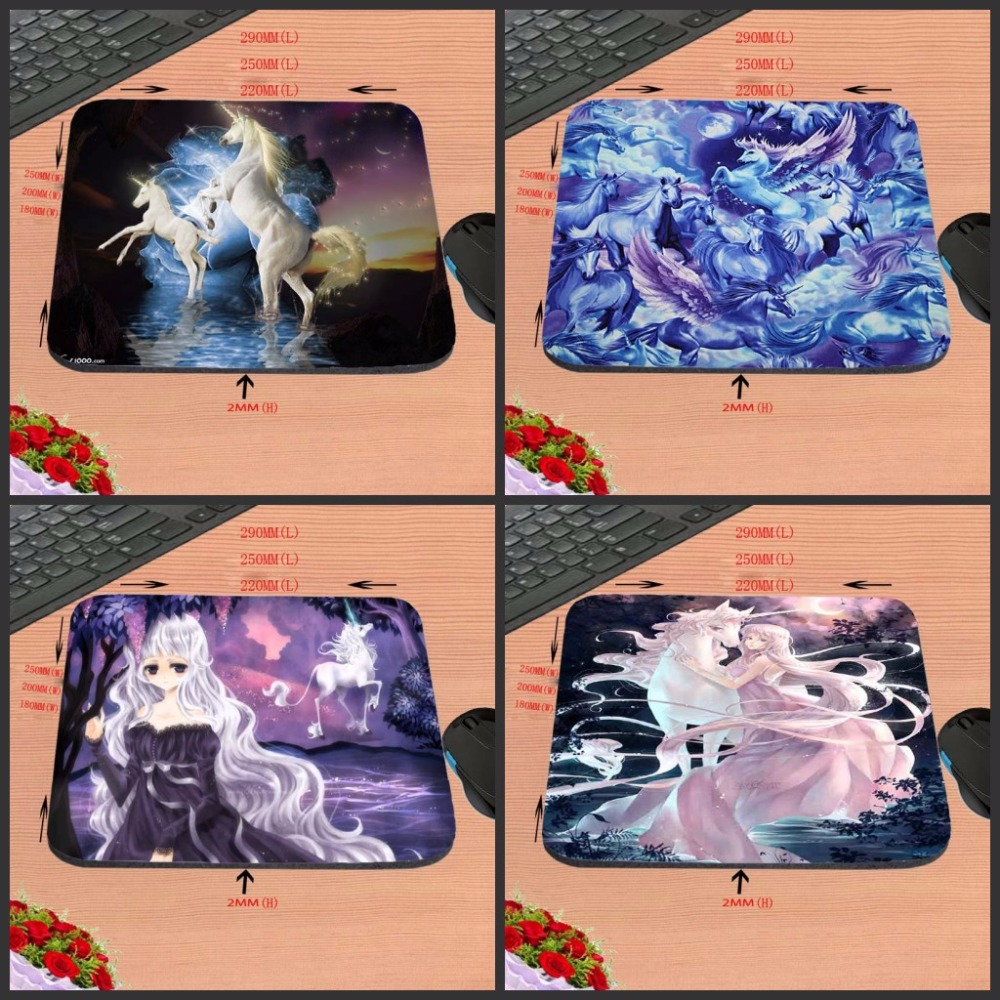 Unicorn Girl In The Forest Cool Fashion Top Selling Silicon Anti-slip Mousepad Computer Mouse Pad Mat 22x18cm/ 25x20cm/25x29cm