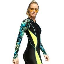 Likra tüplü dalış takım elbise kadın dalış ekipmanları su sporları tulum mayo Wetsuit döküntü muhafızları kadın tek parça mayolar