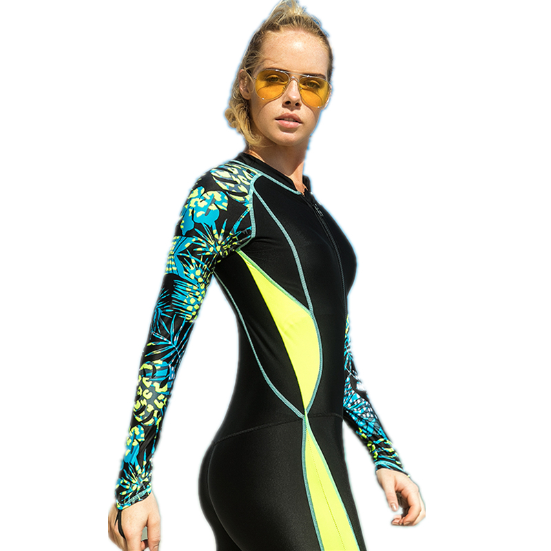 Lycra Scuba Dive Suits Women Snorkeling Equipment Water Sports Jumpsuit Swimwear Wetsuit Rash Guards Women's One Piece Swimsuits