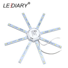 LEDIARY 2D Replaceable LED Light Source For Ceiling Lamp 12-24W 220V With Magnet Led Lights Replacement PCB With Driver(China)