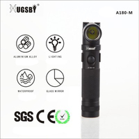 aa Battery Powered LED Flashlight with Magnet, Small LED Torch with 180 Degree Adjustable Head, 160LMs MINI LED Penlight Clip