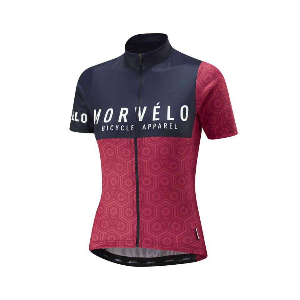 2019 Morvelo Велоспорт Джерси для женщин и девочек Лето короткий рукав велосипед Дорога MTB велосипед рубашка Спорт на открытом воздухе Ropa ciclismo Одежда