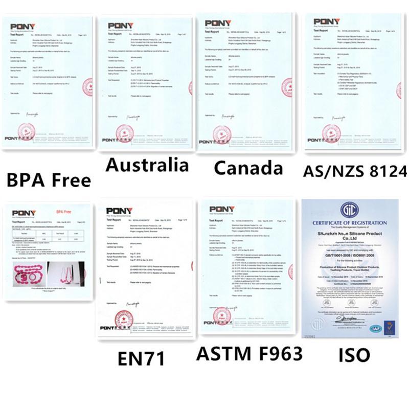 Купить с кэшбэком Chenkai 10PCS Silicone Smile Donut Baby Teether BPA Free Baby Pacifier Chain Pendant Accessories Food Grade Nursing Gifts