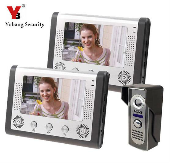 Yobang Security-Video Doorphone Camera Outdoor Doorphone Camera LCD Monitor Video Door Phone Door Intercom System Doorbell