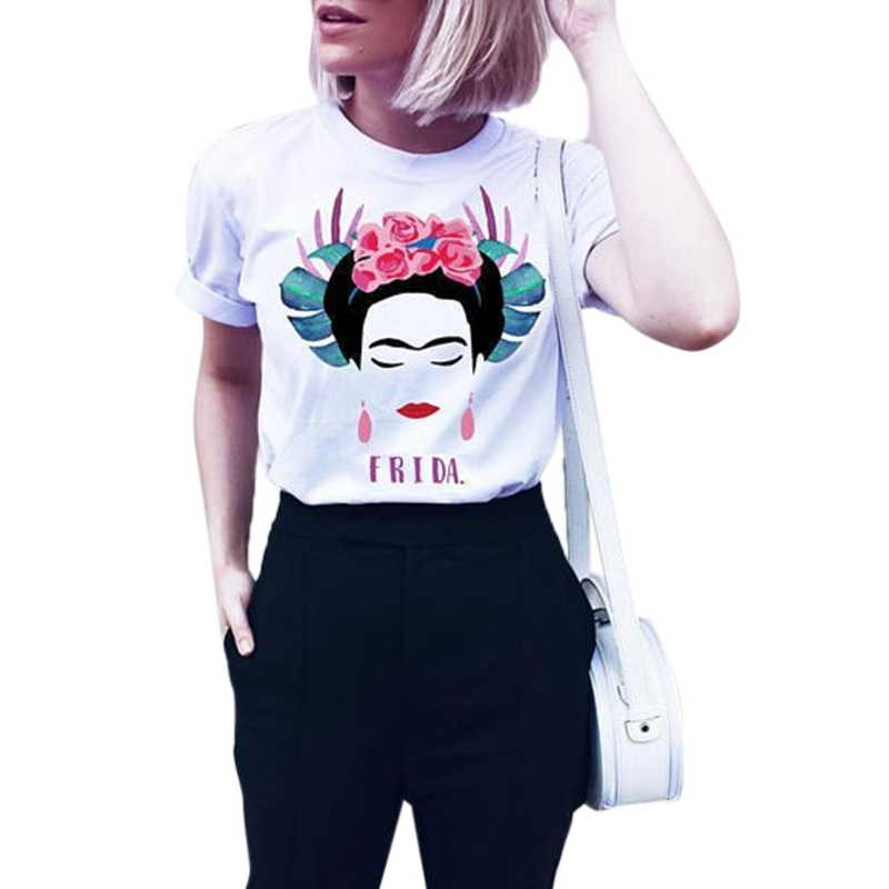 Women Cute Printed Short Sleeve T-shirt Fashion Summer Feminist Graphic Tops New