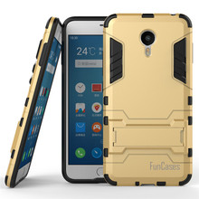 For Meizu Meilan Metal Case 5.5inch Dual Layer Hybrid Rugged Armor Hard PC+TPU 2 In 1 Shockproof With Kickstand Cover(China)
