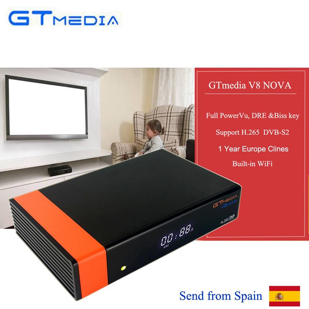 US $152 97 |3 pcs/lot Freesat V8 New Upgrade Satellite TV Receiver Gtmedia  V8 Nova Built In Wifi H 265 Europe Cline of 1 Year DVB S2 Decoder-in