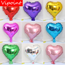 VIPOINT PARTY 10inch red yellow blue love heart foil balloons wedding event christmas halloween festival birthday party HY-1