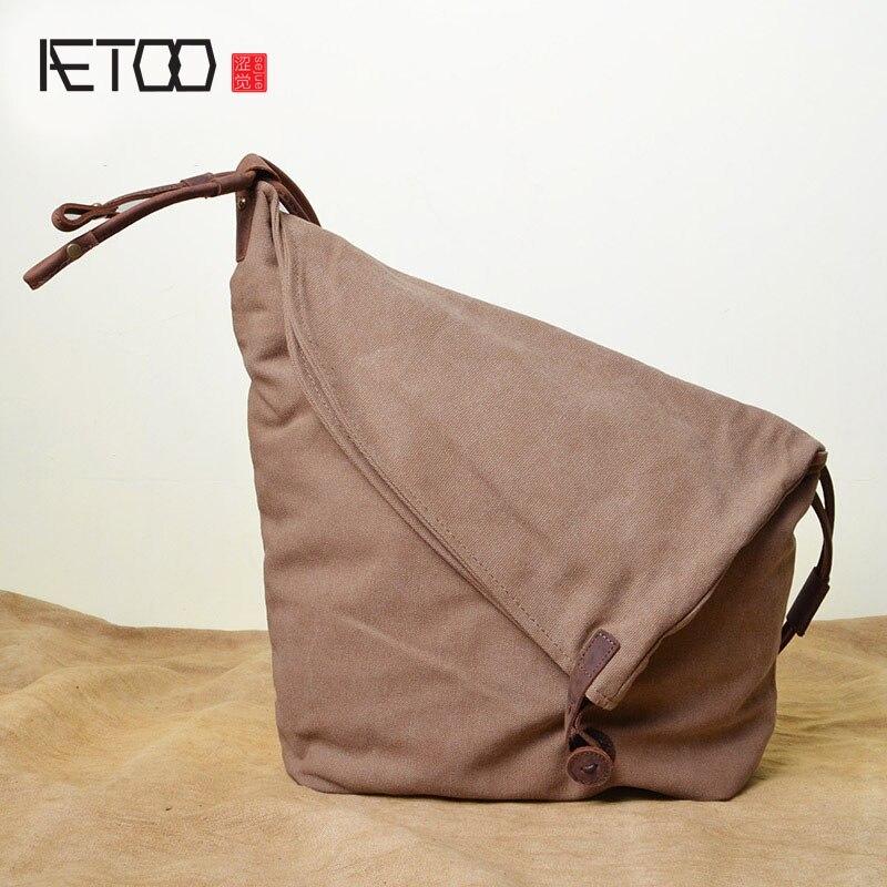 AETOO Retro sac en toile de cheval fou en gros sac à bandoulière en cuir pleine bandoulière sac à bandoulière une génération d'hommes et de femmes