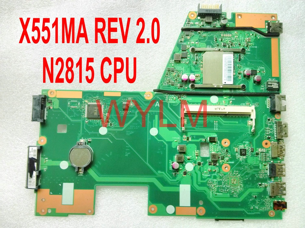 free shipping X551MA with N2815 CPU REV 2.0 For ASUS X551MA Laptop motherboard MAIN BOARD 100% Tested original fully tested laptop motherboard for asus 1215 1215n vx6 rev 1 4 with cpu intel ddr3 and free shipping