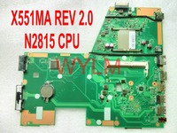Free Shipping Original X551MA Motherboard MAIN BOARD REV 2 0 N2815 CPU 100 Tested