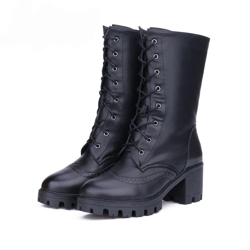 Chaussures Plate Bottes Véritable De Laine Marque Mi La Haute Qualité forme En Hovinge Naturelle Noir D'hiver Avec Femmes Cuir mollet 7IgbfvY6y