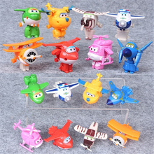 8PCS/Set Super Wings Mini Airplane ABS Robot toys Action Figures Super Wing Transformation Jet Animation Children Kids Gift 2018 high quality super wings control centre with planes action figures transformation toys for children birthday gifts