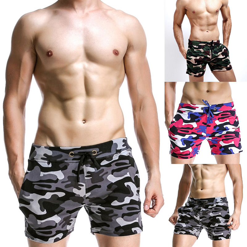 Mens Swim   Shorts   Adjustable Camouflage Trunks Beach   Board     Shorts   For Men Fitness Running Sports Surffing   Shorts   Swimwear