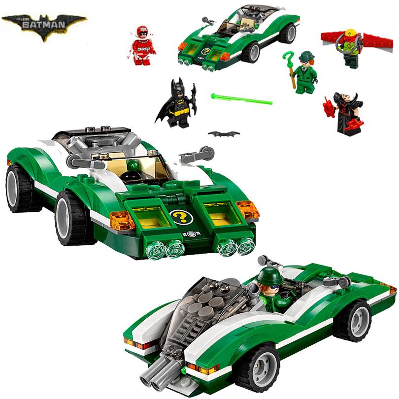все цены на Bela 10630 Batman Movie The Riddler Riddle Racer Man-Bat 70903 Building Block 282pcs Bricks Toy Compatible With Legoings Batman