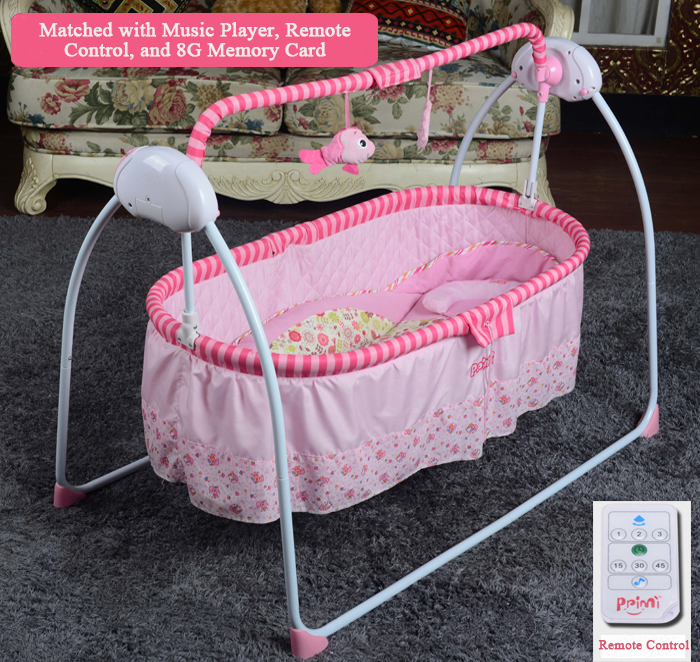 Grande versão do bebê berço elétrico cama