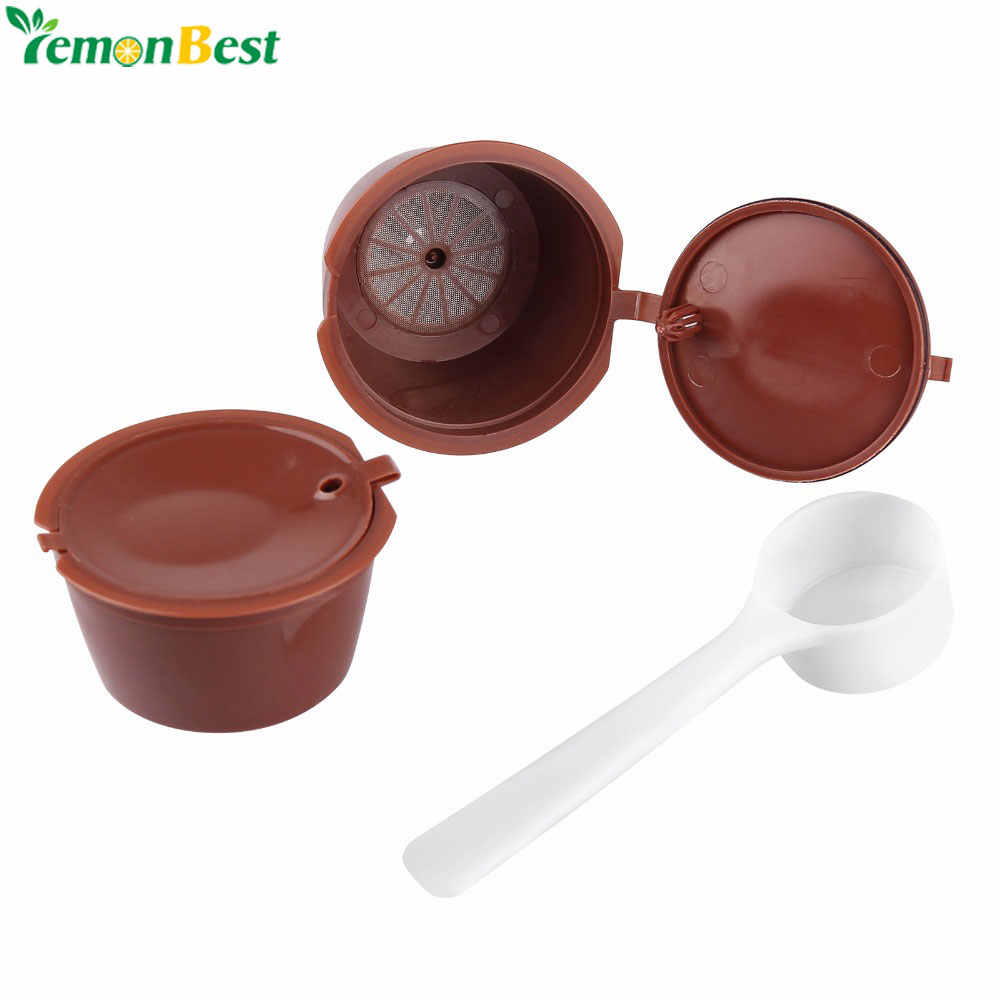 2Pcs Refillable Dolce Gusto Coffee Capsules Nescafe Dolce Gusto Reusable Capsule Refill Dolce Gusto Capsules With 1Pcs Spoon