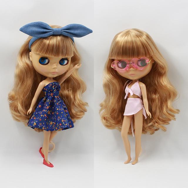 Neo Blythe Doll Dress & Bikini With Shoes & Hairband