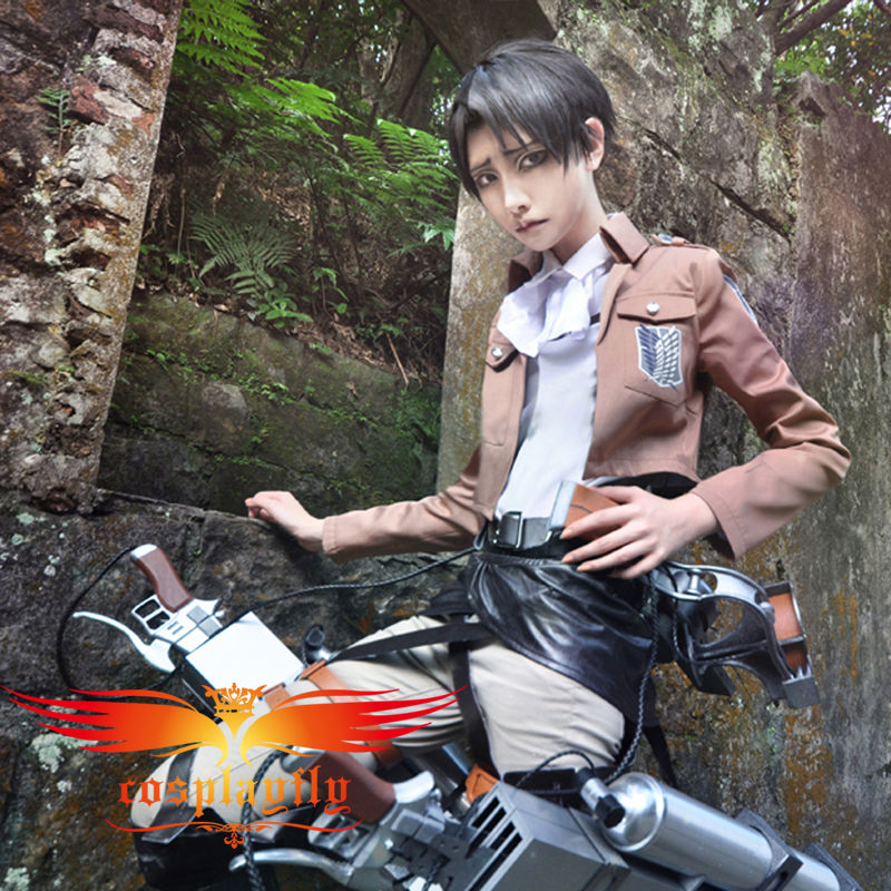 Hot Attack on Titan Shingeki no Kyojin Levil Scouting Legion Costume Adult Men Outfit Clothing for Cosplay Without Cloak (W0239)