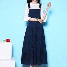 Новинка, высокое качество, модные платья размера плюс XS-3XL для женщин, длинные джинсовые платья макси на тонких бретелях