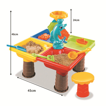 Children's Beach Table Sand Pool Set Summer Sand Water Play Toys Suit Color Random Large Baby Water And Sand Dredging Tool