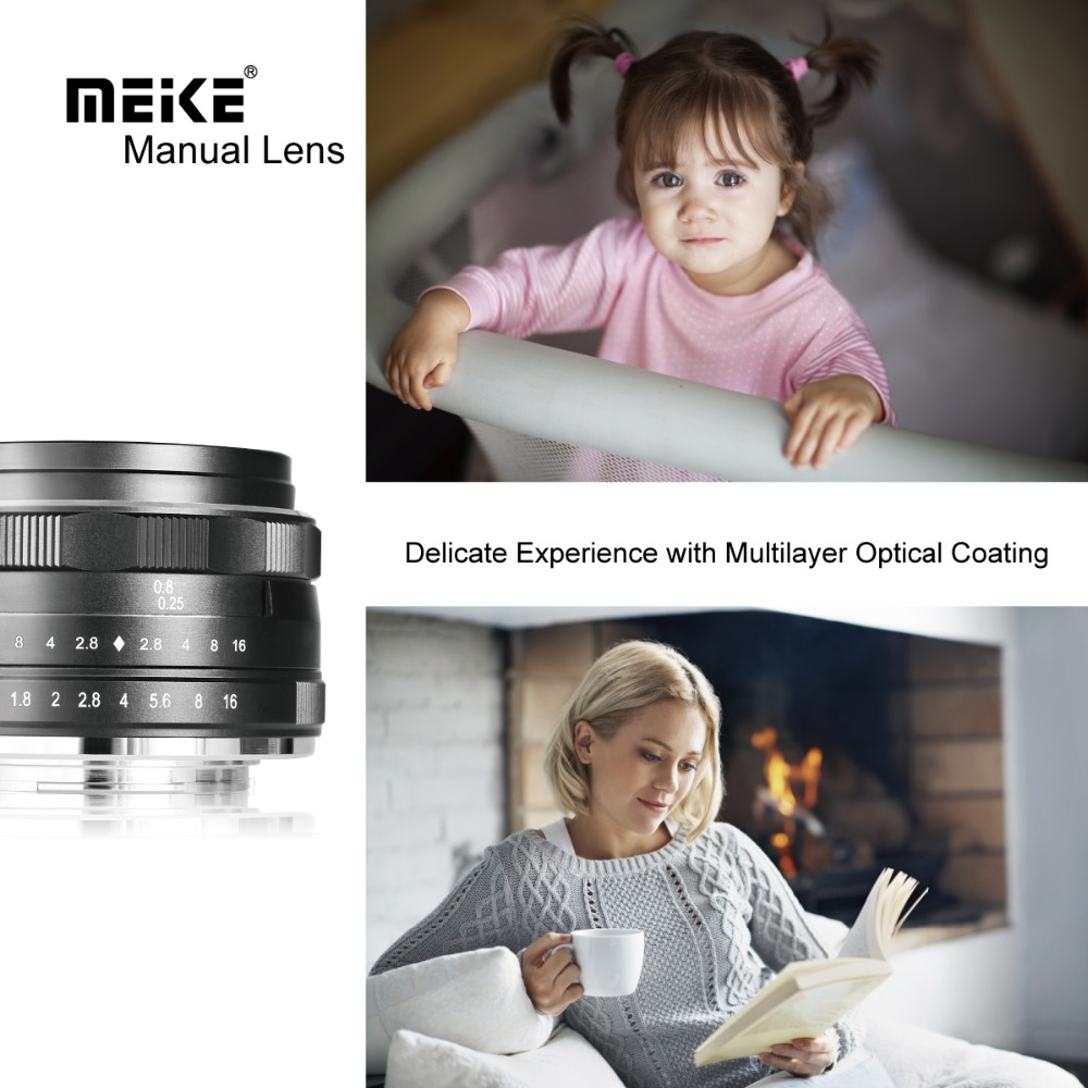 Meike 25mm F1.8 Wide Angle Manual Lens APS C for Fuji X mount / for Sony E Mount /for Panasonic Olympus Camera A7 A7II A7RII|Camera Lens|   -