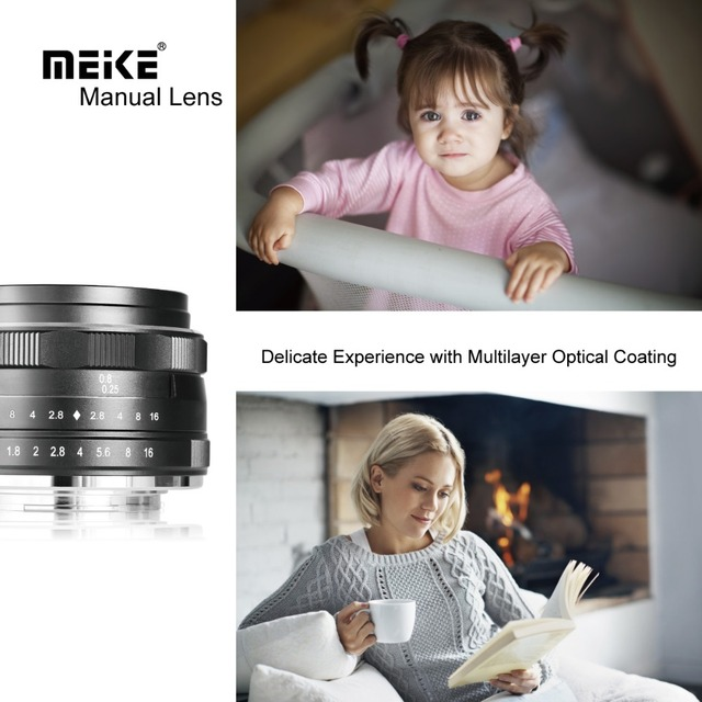 Meike 25mm F1.8 Wide Angle Manual Lens APS-C for Fuji X-mount / for Sony E Mount /for Panasonic Olympus Camera A7 A7II A7RII