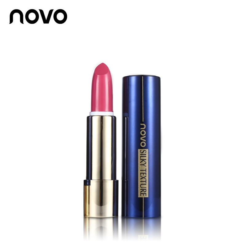NOVO Lip Makeup Non-stick Cup Durable Flame Lipstick Batom Matte Lip Stick Moisturize Lipgloss Tint Red Nude Make Up Cosmetics