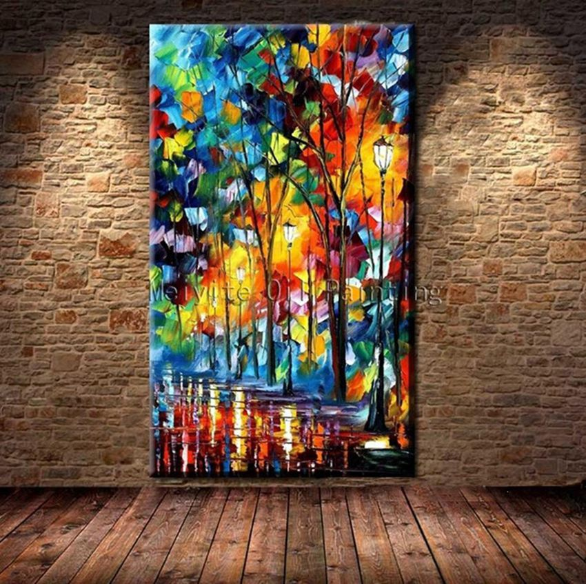 BA Oil Painting 100% Hand-painted Modern Design Knife Oil Canvas ...