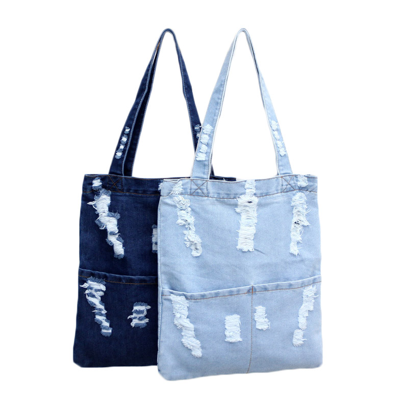 Fashion Women Canvas Denim Tote Large Capacity Handbag Shopping Book Student Organizer Single Shoulder Bag LBY2017 objective ielts advanced student s book with cd rom