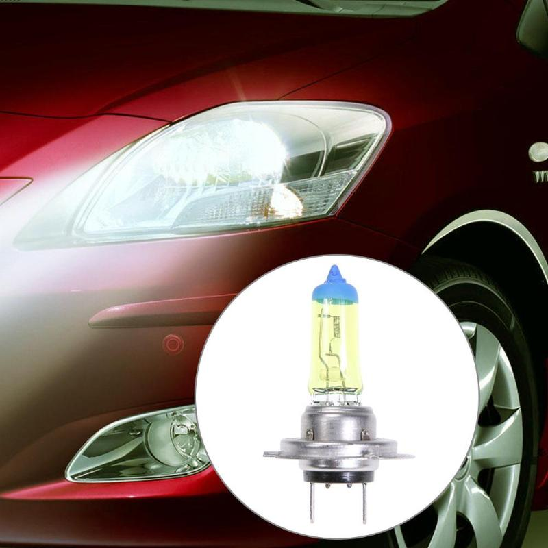 1pc Quartz Glass H7 3000K 55W Car Auto Yellow Halogen Headlight Lamp Bulb