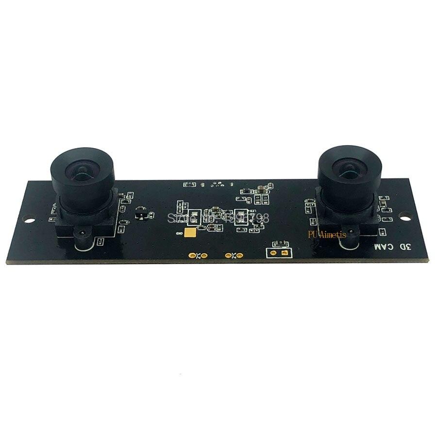 Non Distortion HD Flexible Synchronization Stereo Webcam MJPEG USB Camera Module for 3D Video VR Virtual Reality