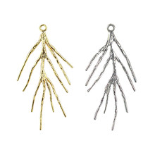17x41MM 14KGold and 925Silver Color Plated Brass Tree Branch Charms Pendants High Quality For Diy Jewelry Making Acce(China)