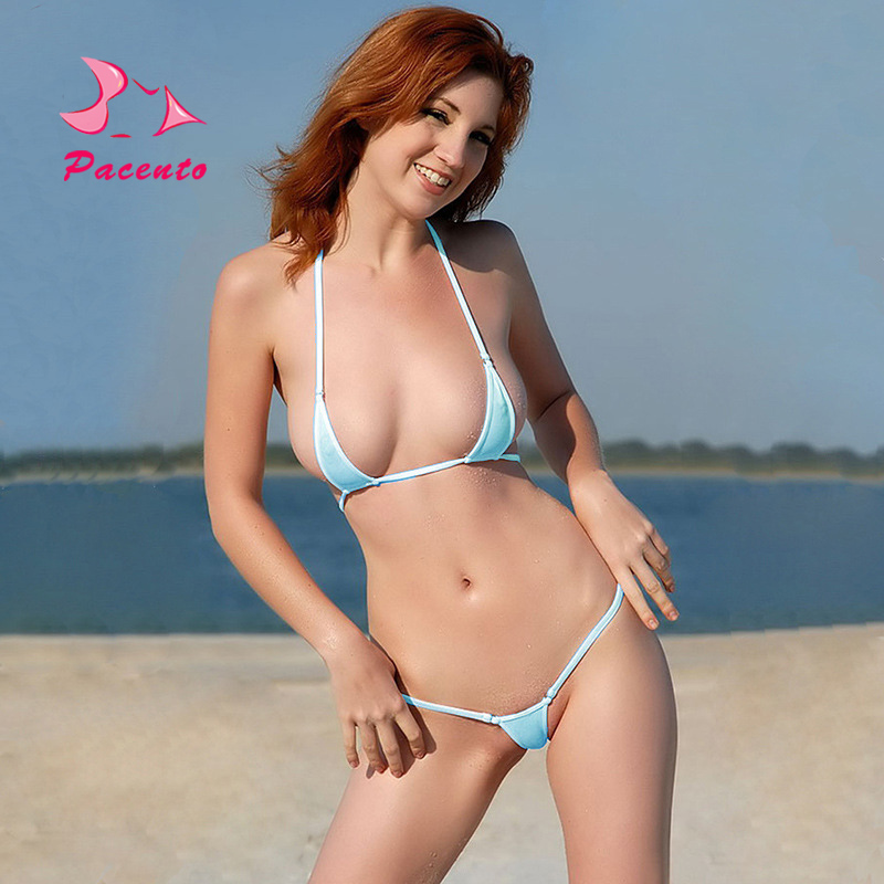 Pacento Bikini Set Micro Bikini 2018 13-color Sexy Two-piece Swimsuits Solid Swimwear Female Thong Swiming Suit for Women Plavky