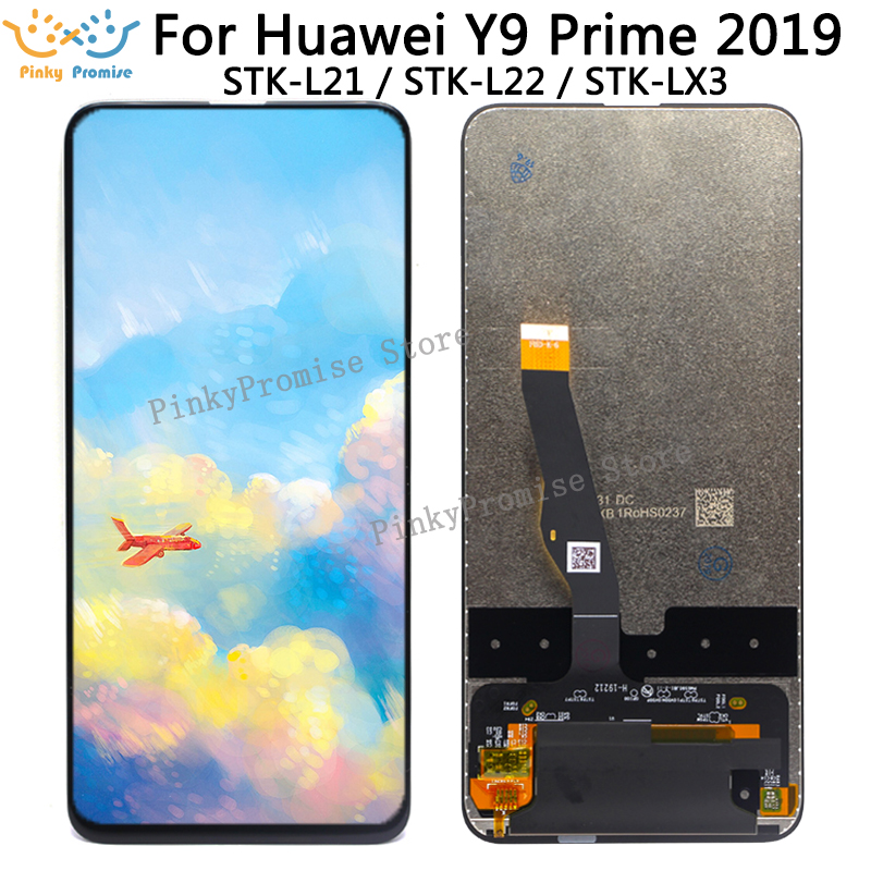 For Huawei Y9 Prime 2019 LCD Display Touch Screen Digitizer Assembly STK L21 STK L22 STK