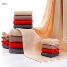 QCZX 2PCS 100% Cotton towel Solid color honeycomb face towel Top Grade Men Women Family Bathroom Hand Towel D40
