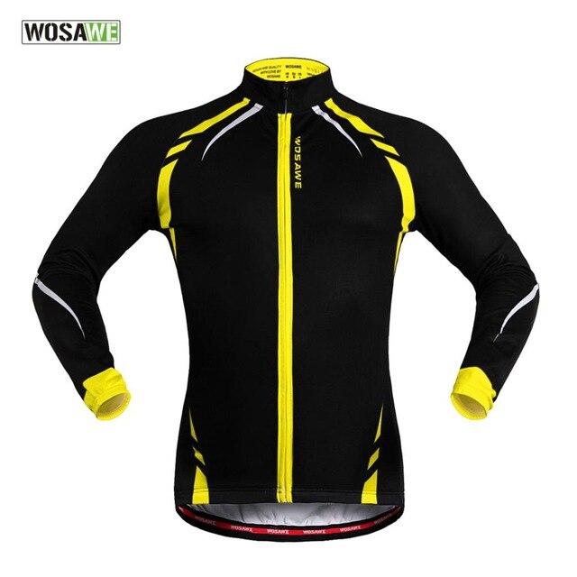 WOSAWE vestes réfléchissantes vtt hiver vêtements thermique polaire cyclisme hommes coupe-vent course Jersey vélo ciclismo Jersey vélo