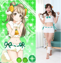 Lovelive! amor vivo pajams set Minami Kotori cosplay animal cordero mujeres disfraces de halloween sexy mujer anime de lechuga romana