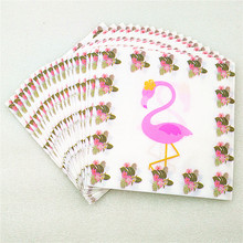 20Pcs Flamingo Paper Napkin Party Supplies Festive & Tissue Baby Shower for Kids Birthday Decorations Favors