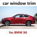 Новое прибытие для B-MW X6 из нержавеющей стали автомобиля подоконник отделка украшение для стекла автомобиля полоса без колонки