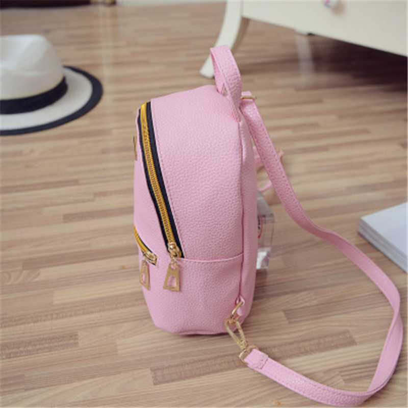 NIBESSER Fashion Women Backpacks Women PU Leather Backpacks Girl Mini Backpack School Bag High Quality Student Small Bag Bolsas