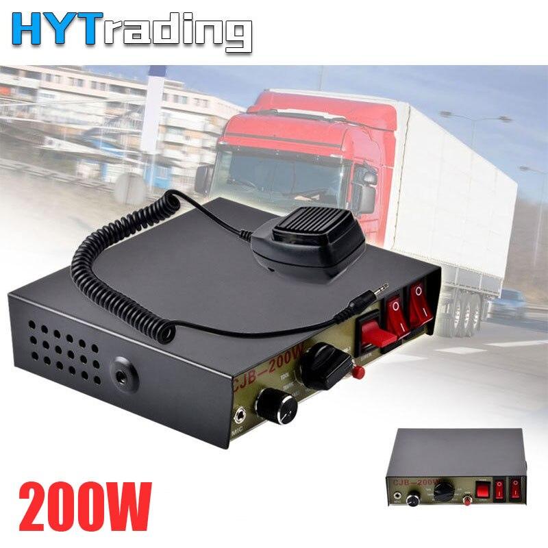 12V 200W CJB Host 8 Sound for Car Loud Warning Police Alarm Siren Horn PA  Speaker MIC System Fire Truck Ambulance Emergency