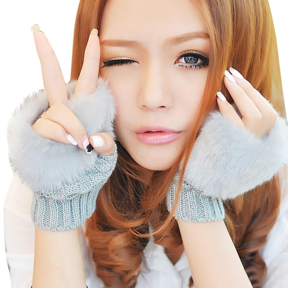 Damen-accessoires Frauen Winter Warm Woolen Gestrickte Finger Handschuhe Arm Handgelenk Trim Handschuhe 11,29 Armstulpen