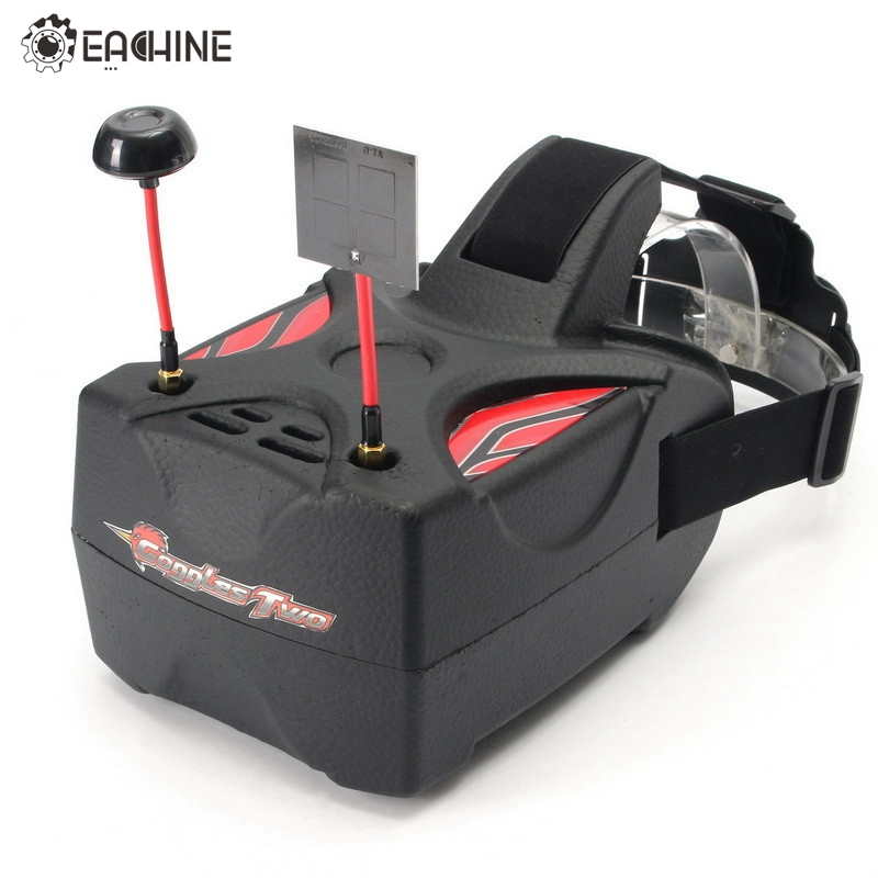 Eachine Goggles Two 5 Inches 5.8G Diversity 40CH Raceband HD 1080p FPV Goggles Video Glasses For FPV Quadcopter RC Drones fpvok fpv 5 8 ghz 40ch rd40 raceband dual diversity receiver with a v and power cables