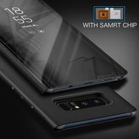 Flip Cover Case For Samsung Galaxy S7 Edg S8 S9 Plus S9plus Note 8 Mirror Case