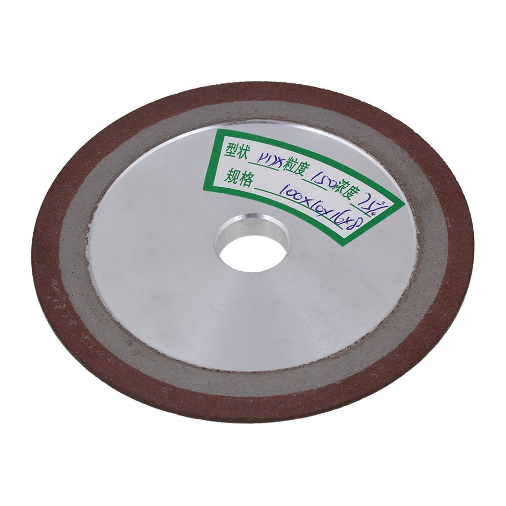 150# Grit One Side Tapered Silver 100x10x16mm Diamond Aluminum Resin Grinder Cutter Grinding Wheel With