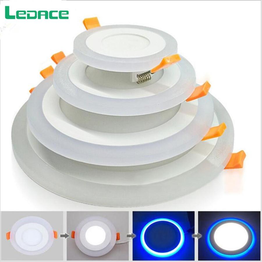 6W 24W vodio strop uvučen svjetlo Painel svjetiljka ukras okrugli - Unutarnja rasvjeta - Foto 2
