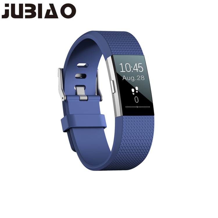 цена JUBIAO S18 Waterproof Color LCD Screen Heart Rate Monitor Fitness Watch With Memory Activity Tracker Smart Band Bracelet IP6